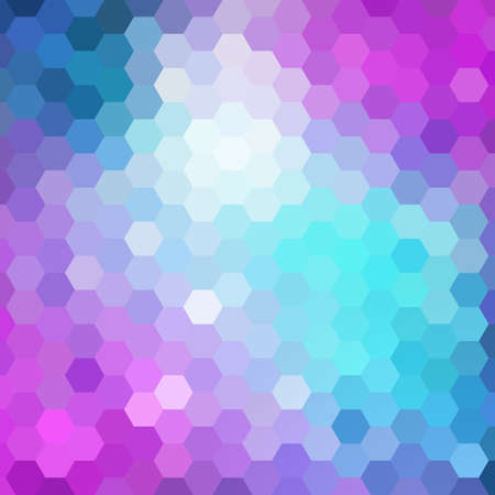 scrunch: Abstract colorful hexagons background.
