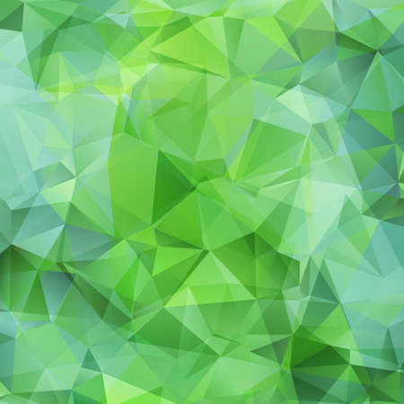 crumple: Abstract green triangles background. Vector illustration
