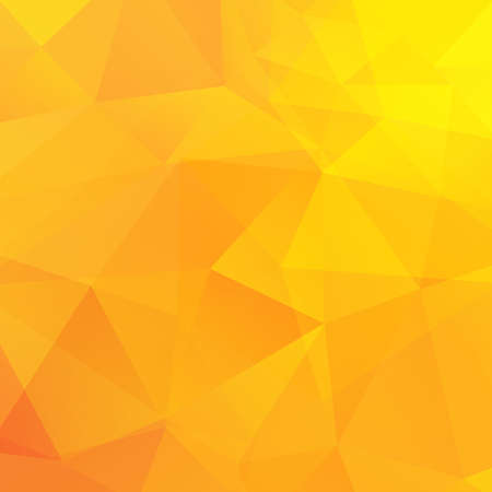 crumple: Abstract yellow triangles background. Vector illustration