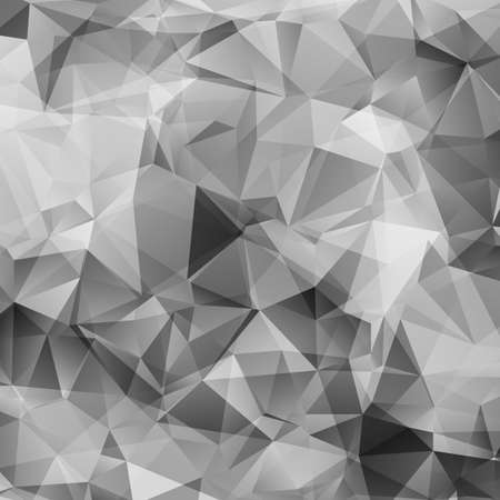 Abstract gray triangles vector background Imagens - 30806471