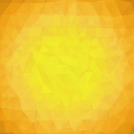 Abstract yellow triangles vector background
