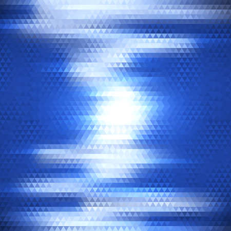 Abstract geometric background with electric discharge of triangles