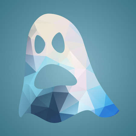 Ghost of triangles. Vector illustration flat icon for your halloween party design. Vector