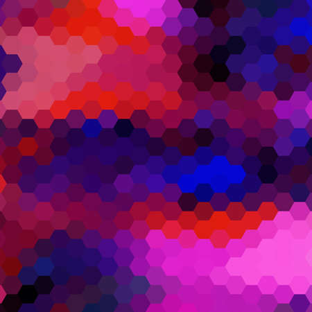 scrunch: Abstract colorful background of hexagons. Vector illustration