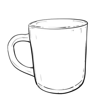 Vector sketch illustration of cup Vector