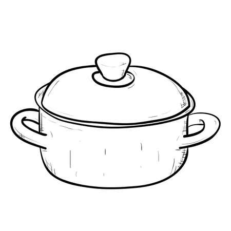 Vector sketch illustration of doodle pan