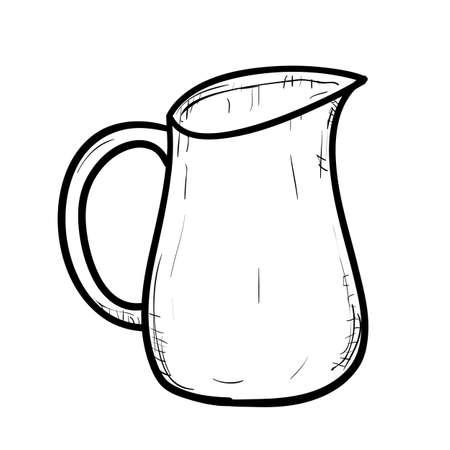 ewer: Vector sketch illustration of doodle jug Illustration