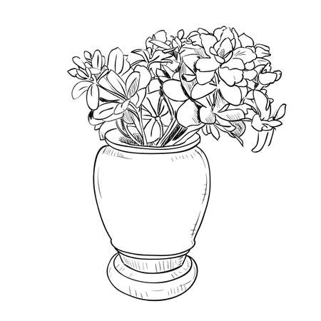 24389 Flowers In Vase Stock Vector Illustration And Royalty Free