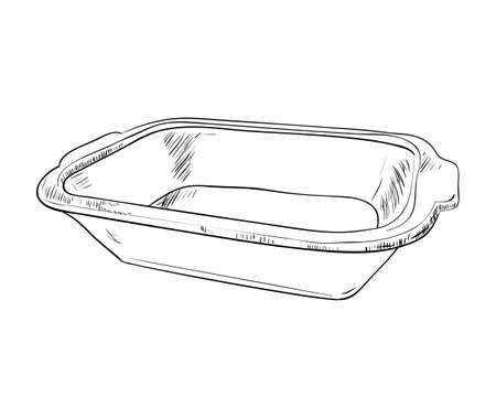 food storage: Vector sketch of containers food storage. Hand draw illustration.