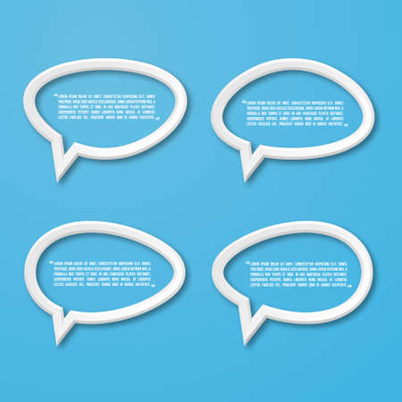 talk show: 3d flat frame speech bubble icon for text quote. blank template