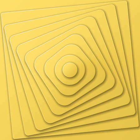 arte optico: pirámide acodada de las figuras en el estilo del arte óptico una vista desde la parte superior. Ilustración del vector.