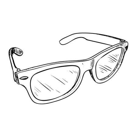 eye glasses: Vector sketch of glasses. Hand draw illustration. Illustration
