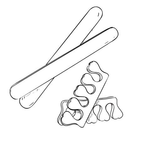 rasp: Sketch set of cosmetic products for nail care.