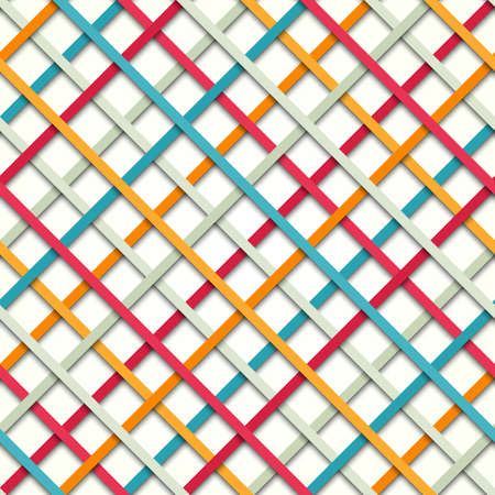 paper strip: Abstract colored seamless geometric paper strip pattern. Vector illustration background for your business presentations