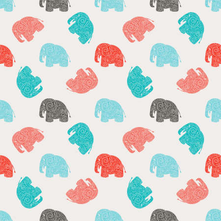 simple background: Seamless colorful pattern vector illustration