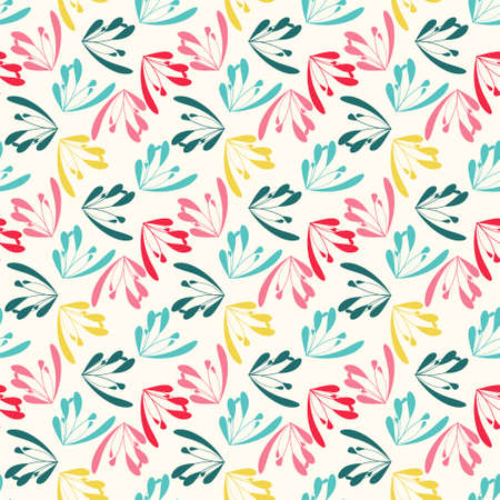 simple background: Seamless colorful pattern. Abstract floral wallpaper. Vector background illustration Illustration