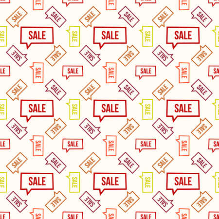 simple background: Seamless colorful pattern. Vector background with sale bubble Illustration
