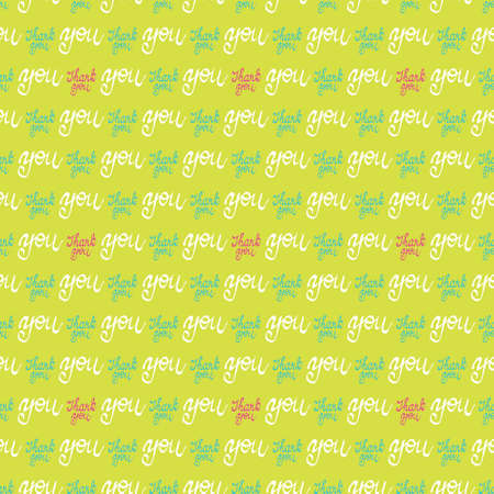 background texture: Seamless colorful wallpaper pattern. Vector background with hand drawn thank you words Illustration