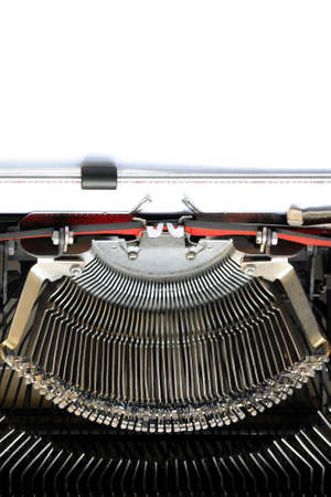 clearly: WRITE YOUR TEXT ON BLANK PAPER - High Definition Photo of Vintage Typewriter - Your Can See Each Letter Clearly! Stock Photo