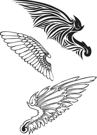 flapping: wing silhouettes