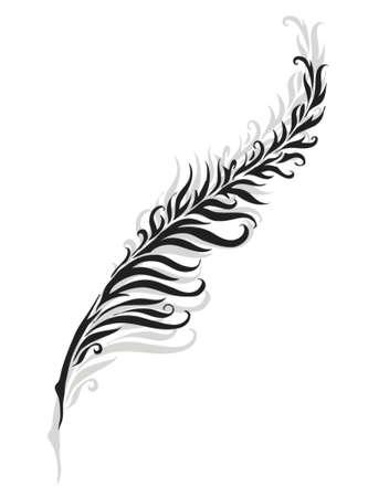stencil: feather silhouette