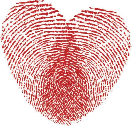 Fingerabdruck Herzen