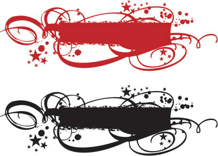 grungy banner with ornaments Vector