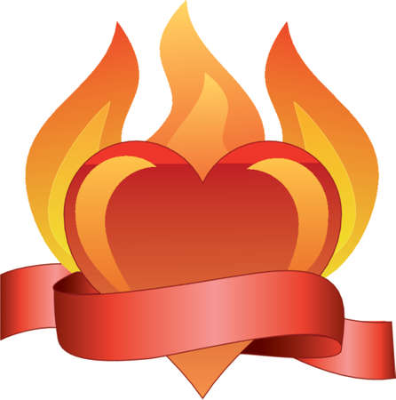 burning love: amore ardente  Vettoriali