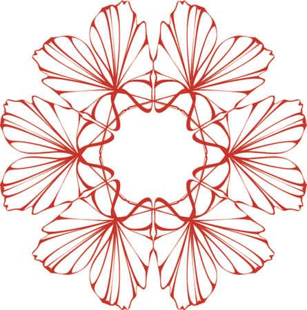 symmetric floral design