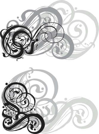 unclean: grungy swirls design