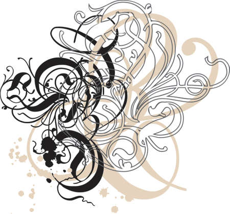 abstract ornamnets with grungy elements Vector