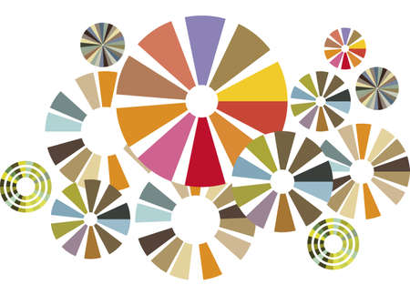 Colorful circles, group of design elements Vector
