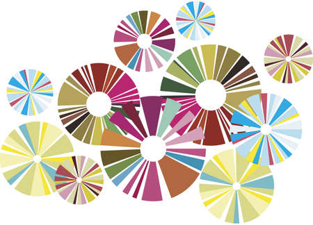 Colorful circles, group of design elements Stock Vector - 1778986