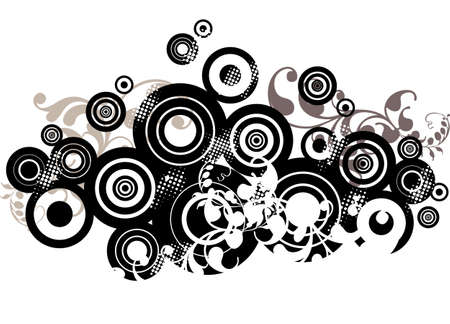 abstract background design with circles Vector