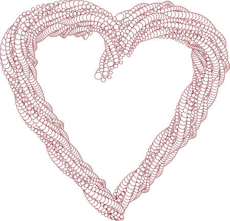 heart shape made of pearls Vector