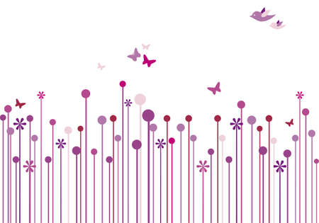 minimalism: abstract floral background Illustration