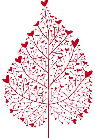 heart tree Vector