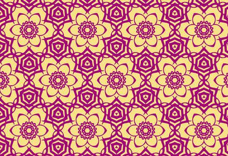 seamless floral pattern, vector wallpaper