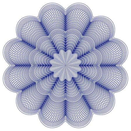 rosette: roseta de impresi�n de moneda, certificado o diploma