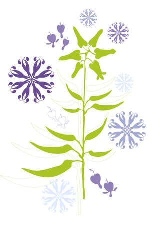 floral background design with seeds Vector