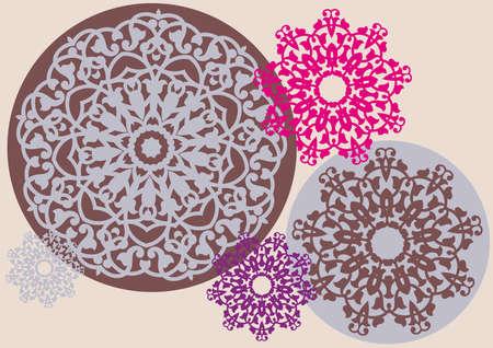 kaleidoscopic: kaleidoscopic floral pattern