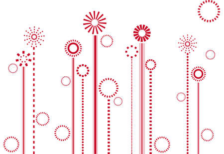 abstract floral design, vector background Vector