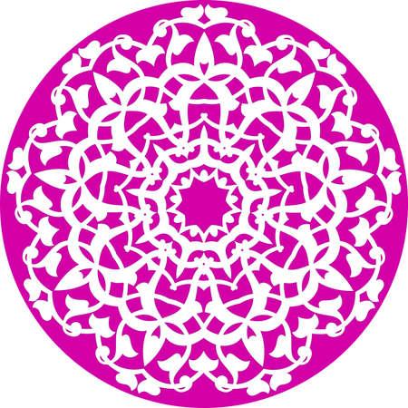 kaleidoscopic floral pattern Vector