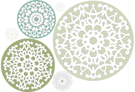 christmas motif: floral crystals, vector s set Illustration