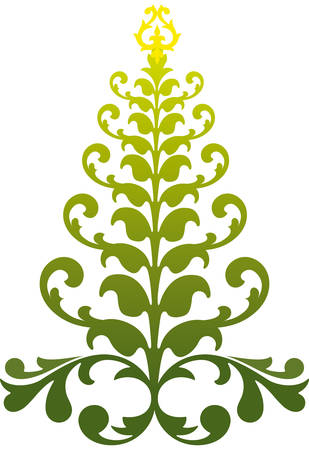 ornamental christmas tree, vector background Vector