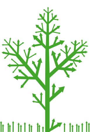 arrow tree with grass Vector