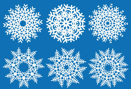 christmas snowflakes, vector set Vector