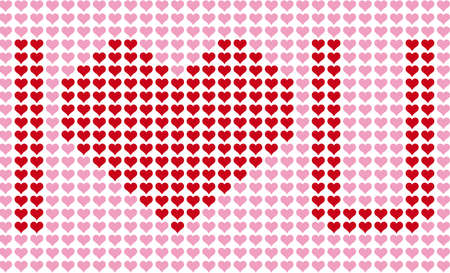 I love you, heart pattern, vector background Vector