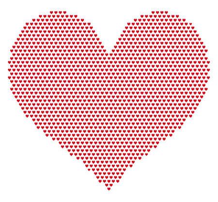 vector raster background: heart grid pattern