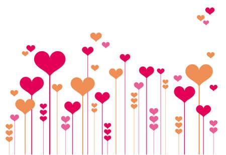 Zusammenfassung Herz Blumen, Vektor-Hintergrund Vektorgrafik